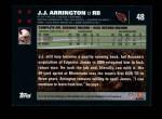 2007 Topps #48  J.J. Arrington  Back Thumbnail