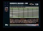 2007 Topps #120  Derrick Mason  Back Thumbnail