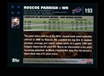 2007 Topps #193  Roscoe Parrish  Back Thumbnail