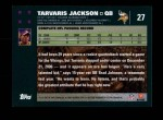 2007 Topps #27  Tarvaris Jackson  Back Thumbnail