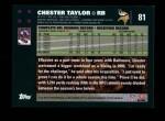 2007 Topps #81  Chester Taylor  Back Thumbnail