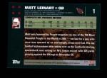 2007 Topps #1  Matt Leinart  Back Thumbnail
