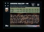 2007 Topps #32  Andrew Walter  Back Thumbnail