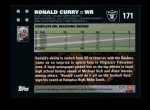 2007 Topps #171  Ronald Curry  Back Thumbnail