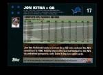 2007 Topps #17  Jon Kitna  Back Thumbnail