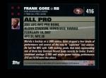 2007 Topps #416   -  Frank Gore Pro Bowl Back Thumbnail