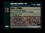 2007 Topps #419   -  Walter Jones Pro Bowl Back Thumbnail
