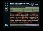 2007 Topps #215  Joe Klopfenstein  Back Thumbnail