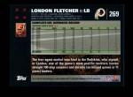 2007 Topps #269  London Fletcher  Back Thumbnail