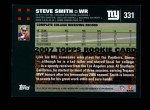 2007 Topps #331  Steve Smith  Back Thumbnail