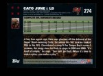 2007 Topps #274  Cato June  Back Thumbnail