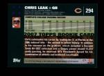 2007 Topps #294  Chris Leak  Back Thumbnail