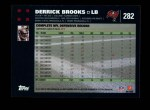 2007 Topps #282  Derrick Brooks  Back Thumbnail