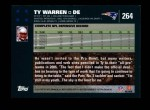 2007 Topps #264  Ty Warren  Back Thumbnail