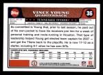 2008 Topps #36  Vince Young  Back Thumbnail