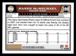 2008 Topps #190  Randy McMichael  Back Thumbnail