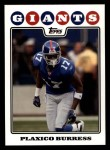 2008 Topps #127  Plaxico Burress  Front Thumbnail