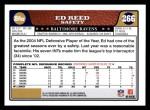 2008 Topps #266  Ed Reed  Back Thumbnail