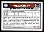 2008 Topps #425  Mike Jenkins  Back Thumbnail