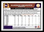 2008 Topps #273  Darren Sharper  Back Thumbnail
