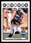 2008 Topps #299   -  Marion Barber Pro Bowl Front Thumbnail