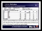 2009 Topps #5  Willis McGahee  Back Thumbnail