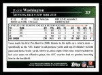 2009 Topps #37  Leon Washington  Back Thumbnail