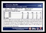 2009 Topps #148  Brandon Jacobs  Back Thumbnail