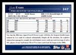2009 Topps #247  Lee Evans  Back Thumbnail