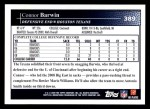 2009 Topps #389  Connor Barwin  Back Thumbnail