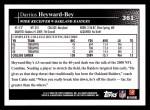 2009 Topps #361  Darrius Heyward-Bey  Back Thumbnail