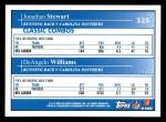 2009 Topps #325   -  Jonathan Stewart / DeAngelo Williams Classic Combo Back Thumbnail