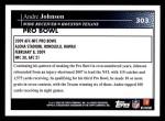 2009 Topps #303   -  Andre Johnson Pro Bowl Back Thumbnail