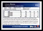 2009 Topps #331  Aaron Brown  Back Thumbnail