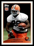 2009 Topps #416  James Davis  Front Thumbnail
