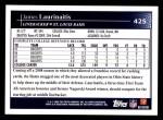2009 Topps #425  James Laurinaitis  Back Thumbnail