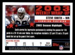 2004 Topps #308   -  Steve Smith Weekly Wrap-Up Back Thumbnail
