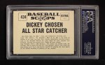 1961 Nu-Card Scoops #434   -   Bill Dickey  Dickey Chosen All-Star Catcher Back Thumbnail