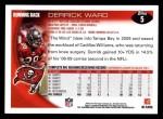 2010 Topps #5  Derrick Ward  Back Thumbnail