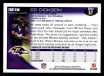 2010 Topps #57  Ed Dickson  Back Thumbnail
