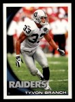 2010 Topps #68  Tyvon Branch  Front Thumbnail