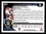 2010 Topps #68  Tyvon Branch  Back Thumbnail