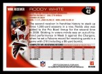2010 Topps #42  Roddy White  Back Thumbnail