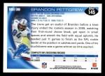 2010 Topps #145  Brandon Pettigrew  Back Thumbnail