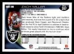 2010 Topps #207  Zach Miller  Back Thumbnail
