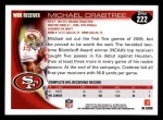 2010 Topps #222  Michael Crabtree  Back Thumbnail