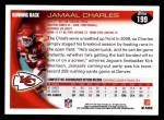 2010 Topps #199  Jamaal Charles  Back Thumbnail