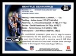 2010 Topps #385   -  Matt Hasselbeck / Julius Jones Seahawks Team Back Thumbnail