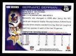 2010 Topps #438  Bernard Berrian  Back Thumbnail