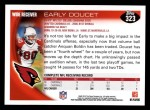 2010 Topps #323  Early Doucet  Back Thumbnail